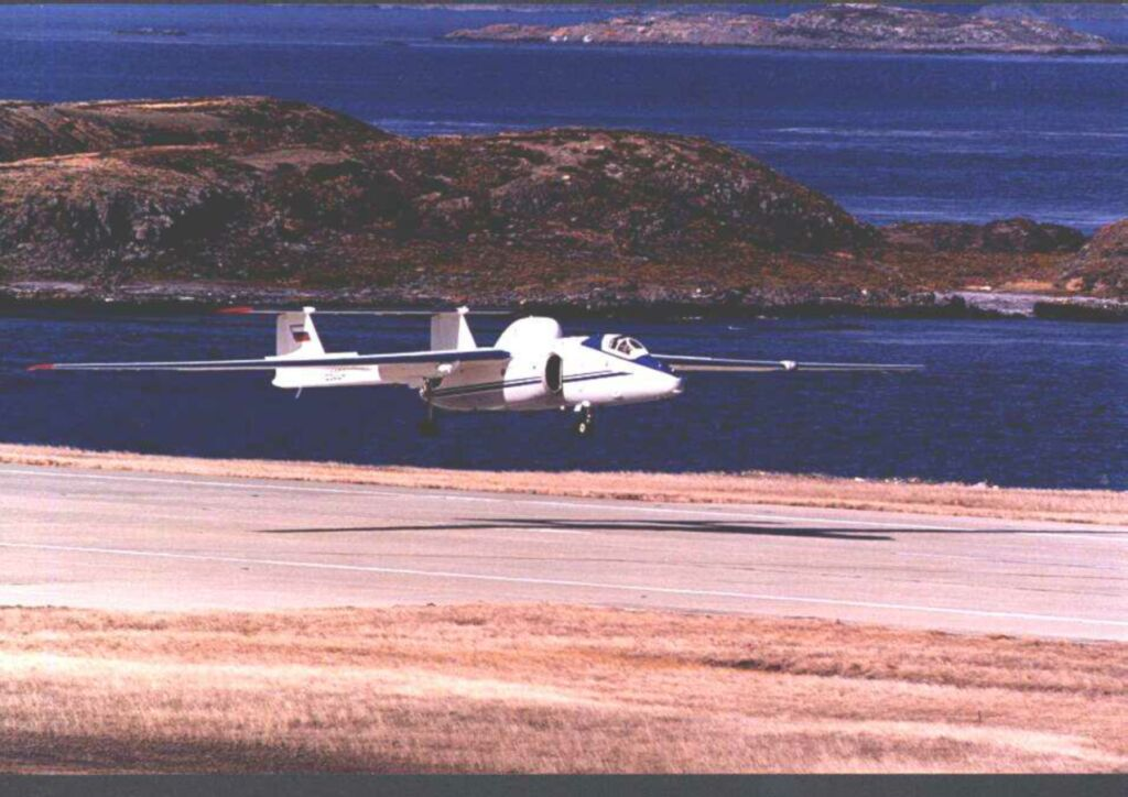 Geophysica take-off in Ushuaia, 1999.