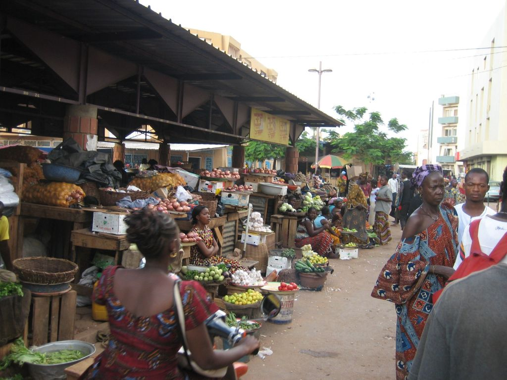 Market place in Ouagadougou, 2006.