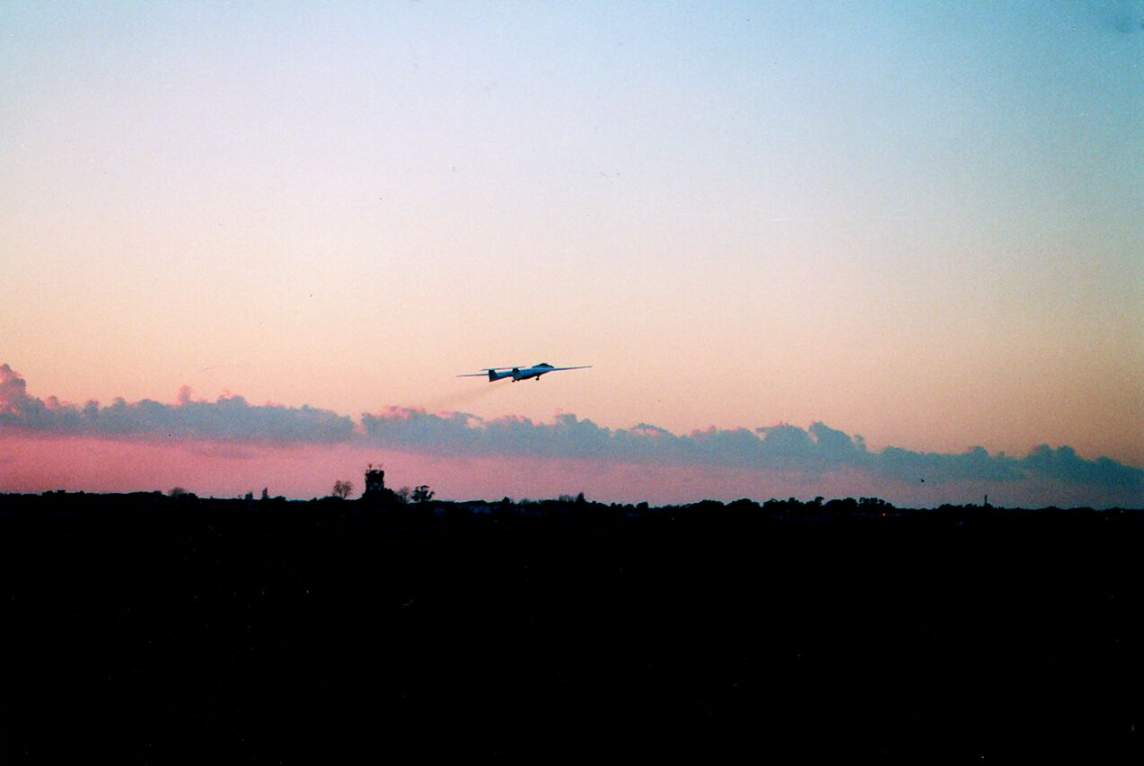 Take-off in the evening, Forli 1999.