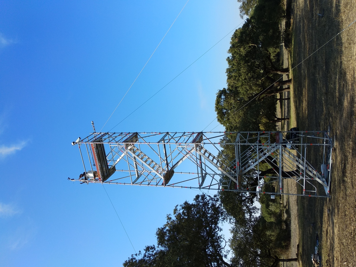 Mast of the LST validation station in Evora, Portugal